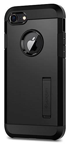 Spigen Tough Armor [2nd Generation] iPhone 8 Case / iPhone 7 Case with Kickstand and Heavy Duty Protection and Air Cushion Technology for Apple iPhone 8 (2017) / iPhone 7 (2016) – Black