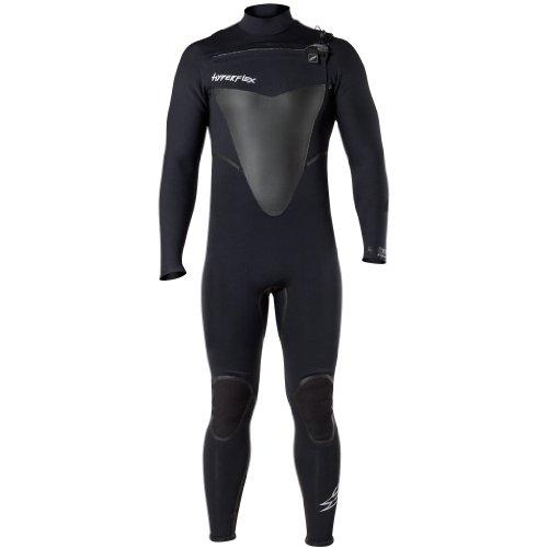 Hyperflex Wetsuits Men's Voodoo 3/2mm Front Zip Fullsuit, Black, X-Large Short