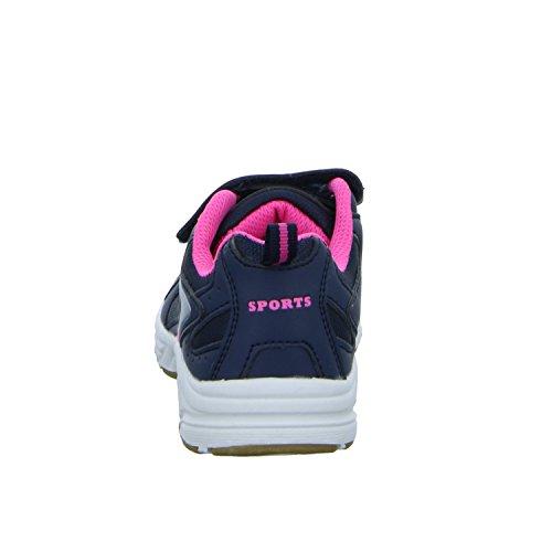 Sneakers RJ-3244 Mädchen Training mit Klettverschluss Blau (Blau)