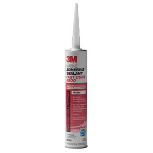 3M Marine Adhesive/Sealant Fast Cure (White, 10 fl.oz) from 3M