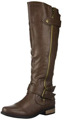 Rampage Women's Hansel Knee High Boot, Brown Smooth, 5 M US