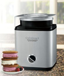 Cuisinart, 2-quart Ice Cream Frozen Yogurt & Sorbet Maker Brushed Metal Finish, Fully Automatic and Includes Recipe Book by Cuisinart