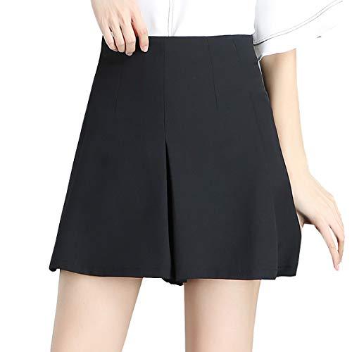 DISSA Jupe FS3153 Ajoure Taille Mini Short Noir Club Grande rOrwqaC