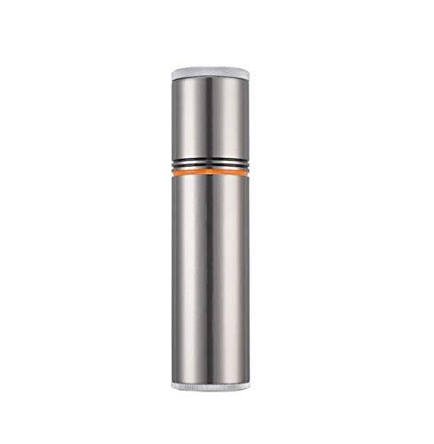 (Wdszb Travel Cigar Tube, Portable Can, Mini Cigar Humidor Hygrometer, Yellow 200 50mm (Color : Silver))