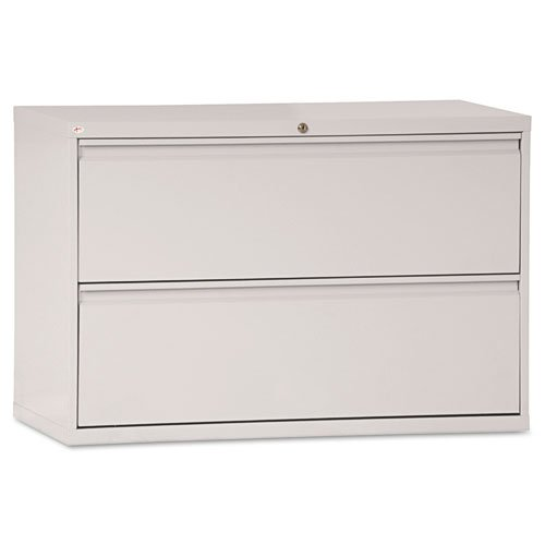 Alera Two-Drawer Lateral File Cabinet, 42w x 19-1/4d x 29h, Light Gray