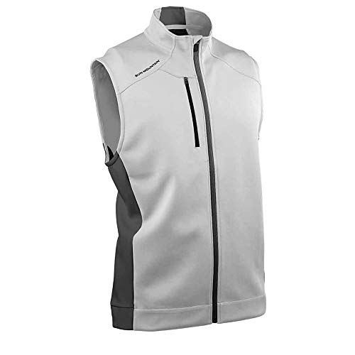 Sun Mountain Mens Thermaflex Vest Grey/Charcoal L