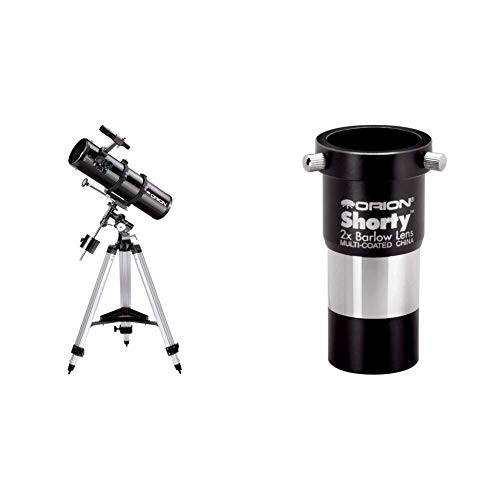 Orion 09007 SpaceProbe 130ST Equatorial Reflector Telescope (Black) Bundle with Orion 08711 Shorty 1.25-Inch 2X Barlow Lens (Black)