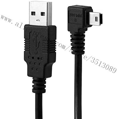 Occus Mini USB B Type 5pin Male to USB 2.0 Male Data Cable with Ferrite 25cm 0.5m 1.8m 3.0m 5.0m Left Angled Right Angled 90 Degree Cable Length: 50cm, Color: Left
