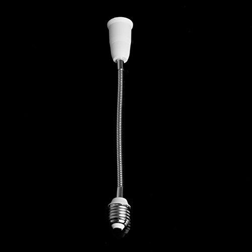 LOCHI E27 LED Light Bulb Lamp Holder Flexible Extension Adapter Socket Converter White L15 NEW BRAND