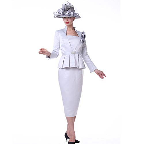 Kueeni Women Outfits 3pc Jacket Vest Skirt For Special Occasion