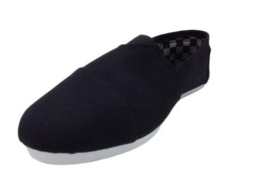 Zapatillas Slip-on Shocked Para Hombre Con Forros Impresos Lienzo Estilo Negro