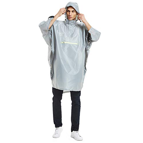 Tpingfe Men's Camouflage Belted Hooded Military Waterproof Mountaineering Raincoat - Iridescent Coat Taffeta