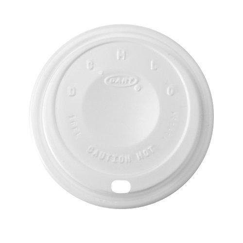 Dart White Cappuccino Lid - DART 16EL Cappuccino Dome Sipper Lids