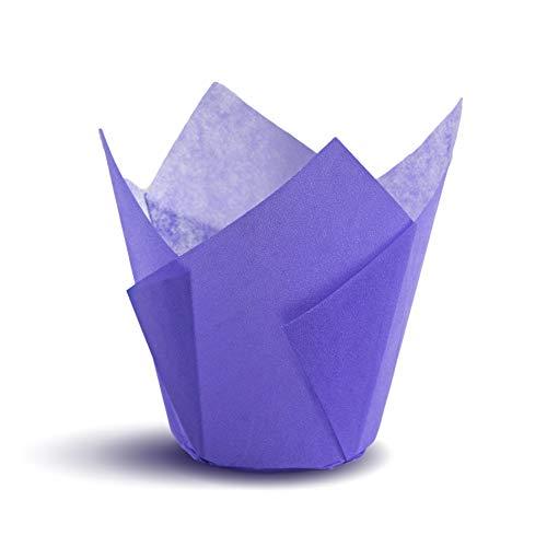 Tulip Cupcake Liners (Violet Purple) 100 Count