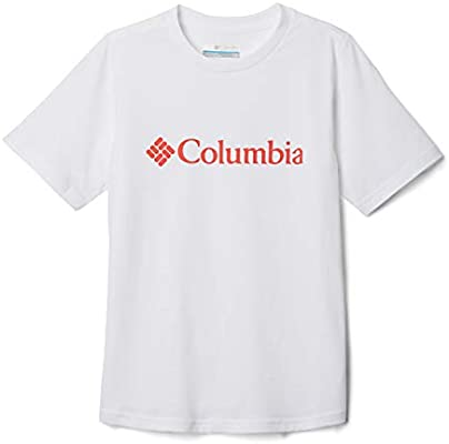 Columbia CSC Basic Youth Camiseta Estampada De Manga Corta, Unisex niños, Blanco/Naranja (White/Bright Poppy), XS: Amazon.es: Deportes y aire libre