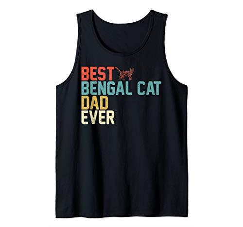 Best BENGAL CAT Dad Ever Tank Top - Vintage Retro Tank Top