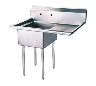Turbo Air 39'' One Compartment Sink With Right Hand Drainboard