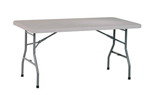 Office Star Resin Multipurpose Rectangle Table, 5-Feet Long