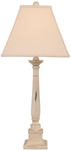 Coast Lamp Distressed Cottage Square Candlestick Table (Cottage Candlestick Table Lamp)
