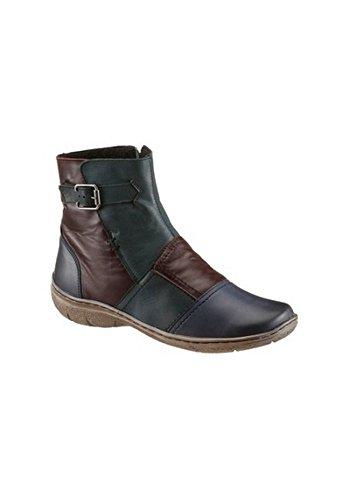 Unbekannt Boots - Botas de Piel para mujer Petrol komb
