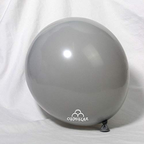 CY Mylar Latex Balloons Pearlized Peach Balloons Gray Balloons Wine Red Balloons Pearl Midnight Blue Balloons (Gray 10inch)-36pack