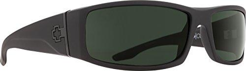 - Spy Optic Men Cooper Rectangular, Soft Matte Black/Happy Gray/Green Polar, 56 mm