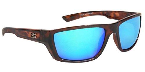 Calcutta SW1GMTORT Shock Wave Sunglasses, Tortoise Frame/Green Mirror Lens