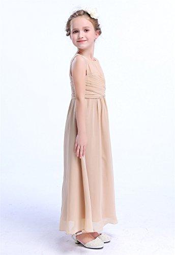 Kleid Mädchen Champagnerfarben A HAPPY ROSE Linie fxWZnq8wgO