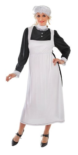 Vintage Aprons, Retro Aprons, Old Fashioned Aprons & Patterns Ladies Victorian Maid Costume $22.42 AT vintagedancer.com