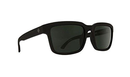 Spy Helm 2 Sunglasses Matte Black with Happy Grey Green Polarized Lens + ()