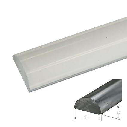Beau 1/2u0026quot; Wide By 1/4u0026quot; High   Clear Acrylic Frameless Shower