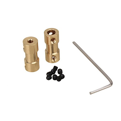 2pcs 3mm to 5mm Brass Joint For RC With Screws Shaft Coupling Motor Connector