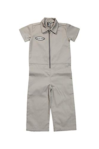 Born to Love Knuckleheads - Infant and Baby Boy Grease Monkey Coveralls (3T, Grey) -