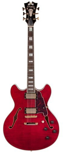 D'Angelico EXDCSP01 Semi-Hollow-Body Electric Guitar, Cherry