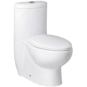 Ariel Bath Hermes Contemporary Elongated One Piece Toilet White