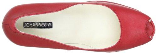Johannes A 9284 Para Mujer rot Zapatos Sko Kvinder A Læder Johannes W De Rødt rot Siska Rojo rot Siska togo rot W Cuero 9284 Til togo Tw6qTWpIr