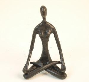 Danya B Yoga Lotus Cast Bronze Female Sculpture