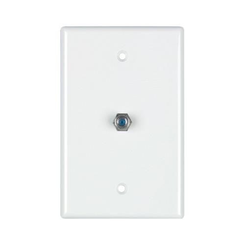 (JAYBRAKE Datacomm Electronics 32-2024-Wh 2.4 Ghz Coax Wall Plate (White))