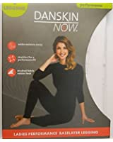 Danskin Now Womens Size Large 12 -14 Performance Baselayer legging white