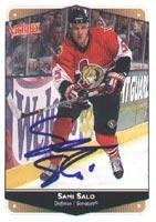 - Sami Salo Ottawa Senators 1999 Victory Autographed Card - Rookie Card. This item comes with a certificate of authenticity from Autograph-Sports. Autographed