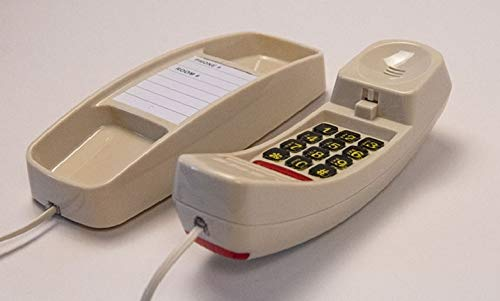 Slim Line Corded Ivory Color Telephone -High Quality- Great Clarity