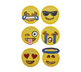 Kim Seybert Emoji Coaster Set of 6 in gift bag by Kim Seybert