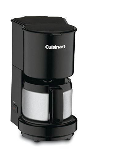 Cuisinart DCC-450BK 4-Cup Coffeemaker with Stainless-Steel Carafe, Black (5 Cup Programmable Coffee Maker)