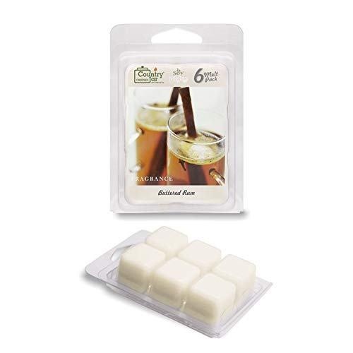 Country Jar Buttered Rum Soy Wax Melts/Tarts (2.75 oz. 6-Cube Pack) Spring Pick-3 Sale! See Details.