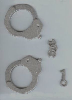 3-D Handcuffs Candy Mold