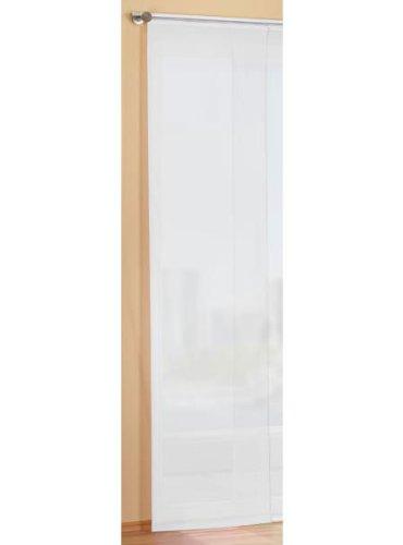 Preisgünstiger Flächenvorhang Schiebegardine, transparent, unifarben, mit Zubehör, 245x60, Weiß, 85589