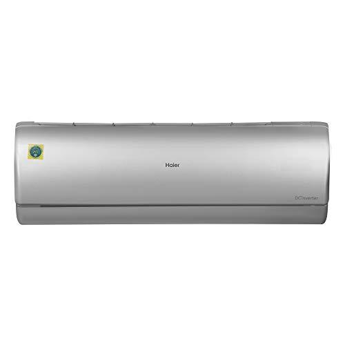 Haier 1.5 Ton 5 Star Inverter Split AC (Copper, In- built Air Purifier, 2020 Model, HSU19P-JS5B(INV), Silver)