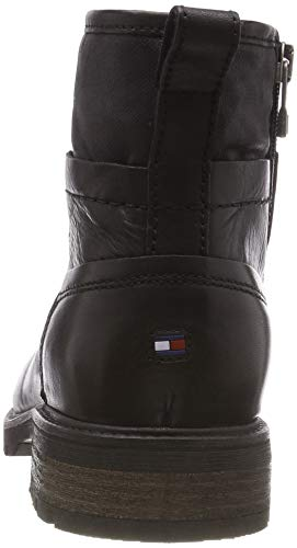 Homme Leather Boot Black Rangers 990 Hilfiger Mix Tommy Winter Bottes Textile Noir EwO8SHgq