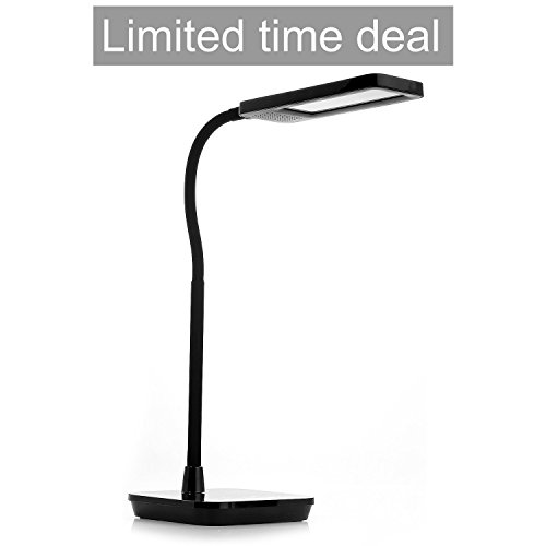 Kingstar Dimmable LED Desk Lamp,DT07 6-Level Dimmer Led Light Table Lamps Touch-Sensitive Control Panel with One Hour Timer