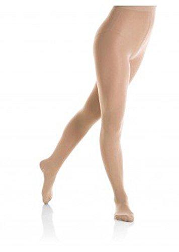 Mondor 3345 Footed Durable Figure Skating Tights - Light Tan - 6-8 ()